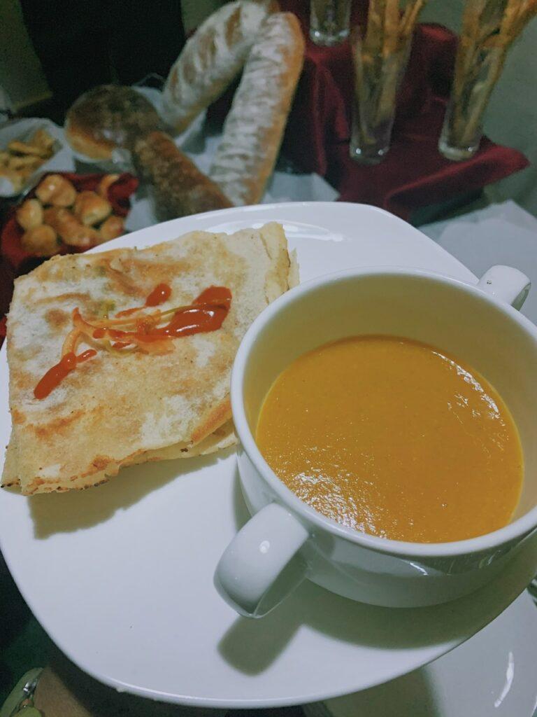 Shorbat adas soup at sabroso restaurant